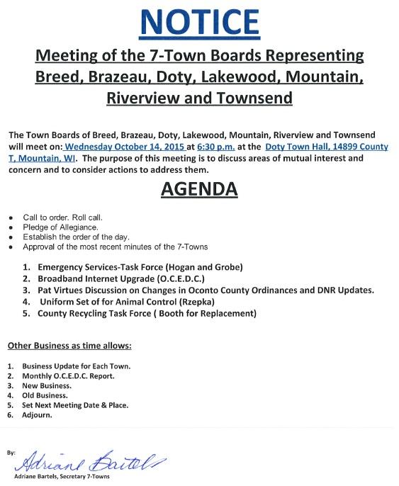 7-TB Agenda October 14, 2015