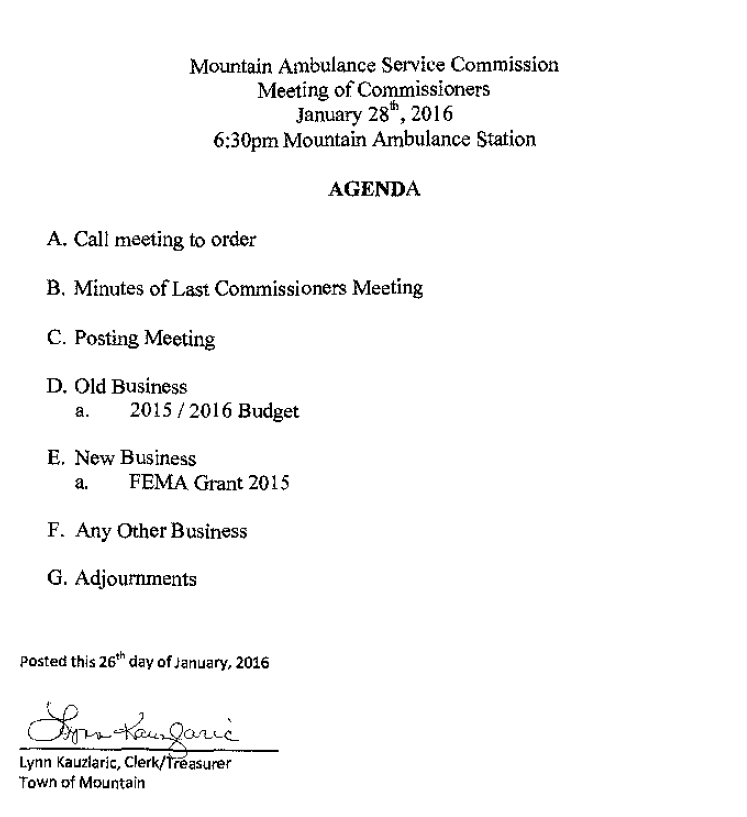 MAS Comm Mtg Agenda Jan 28, 2016