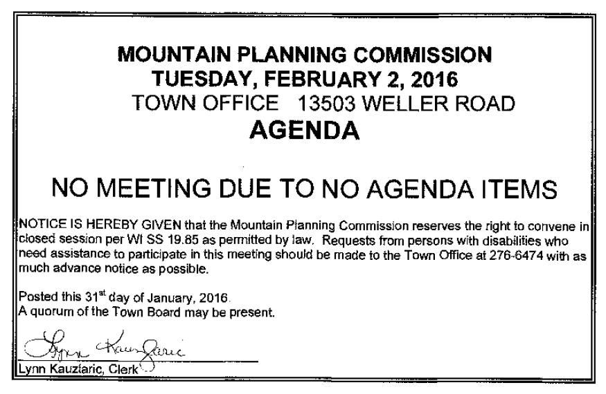 PC Agenda Feb 2, 2016